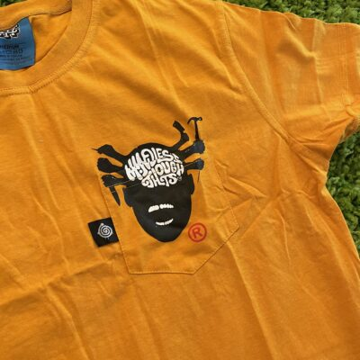 Insanely Mindless Pocket t-shirt (gold)